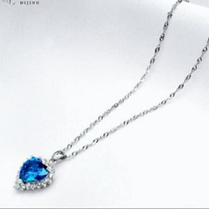 Jewelry - Brand new Sterling silver heart of ocean necklace
